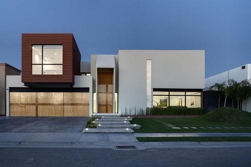 Fachadas minimalistas fachada 8 for Fachadas oficinas minimalistas