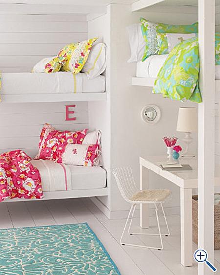 Decoraci n infantil dormitorios para tres ni as for Camas nido para tres ninos