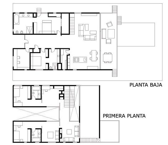 Estilo minimalista casa mallorquina for Planos de cocina salon