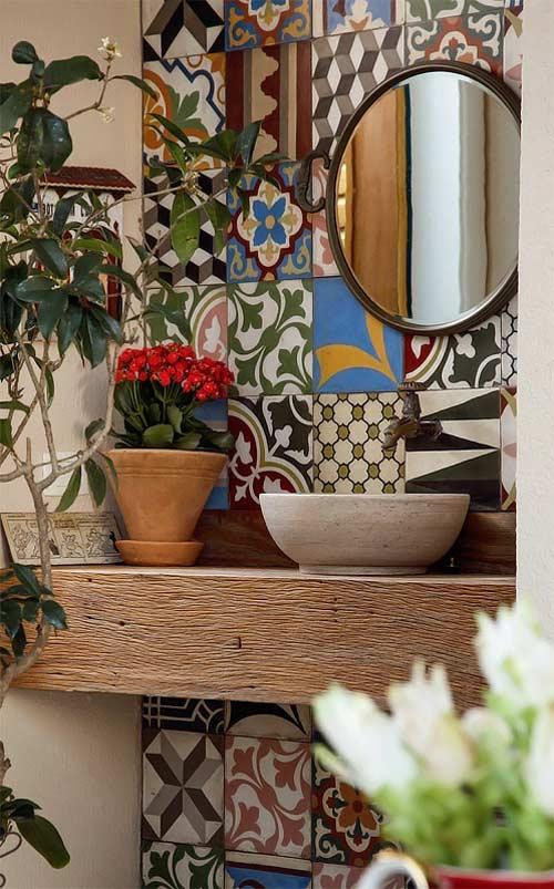 Azulejos hidr ulicos para el ba o ba o 2 for Azulejo hidraulico bano
