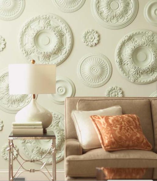 Rosetas de techo para decorar la pared for Techo de escayola decoracion simple