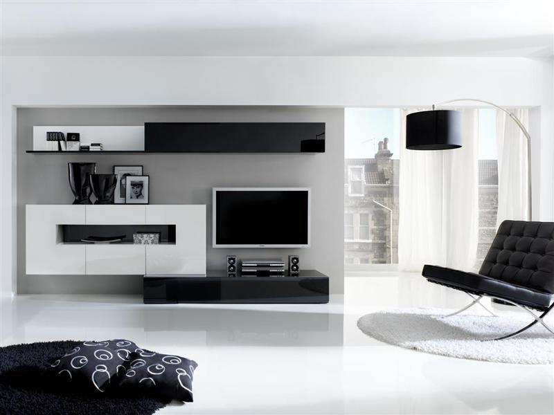 Decoracion De Interiores Baños Minimalistas:Decoración en blanco y negro – salón