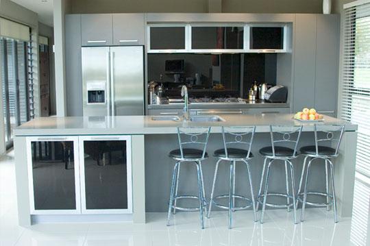 Una barra en la cocina - Cocina para bar ...