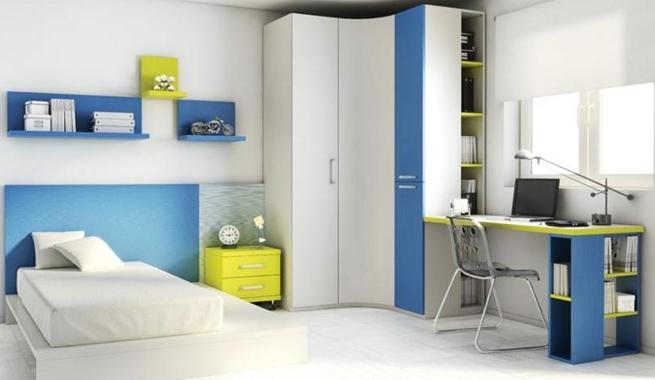 Muebles juveniles chico for Muebles para dormitorios chicos