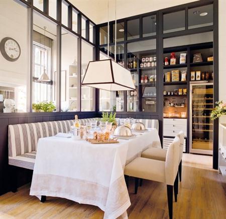 Ideas para un comedor pr ctico comedor 8 Diseno de cocinas integradas al comedor