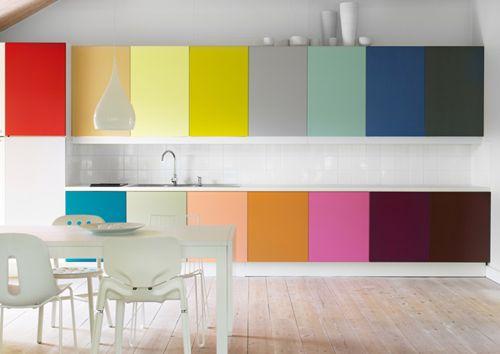 Cocinas de colores - Cocinas con colores vivos ...