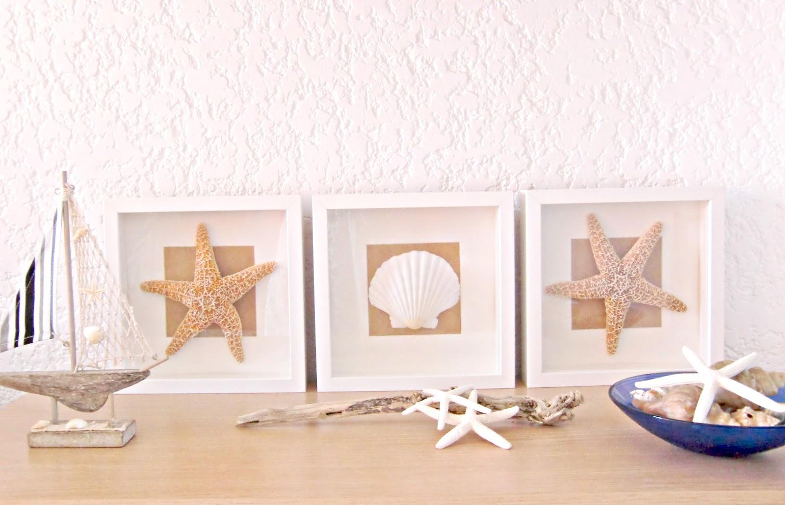Cuadros con conchas de mar - Decoracion con conchas ...