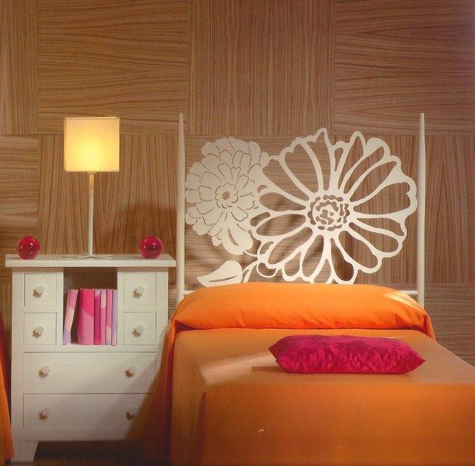 Cabeceros de flores - Forrar cabeceros de cama ...