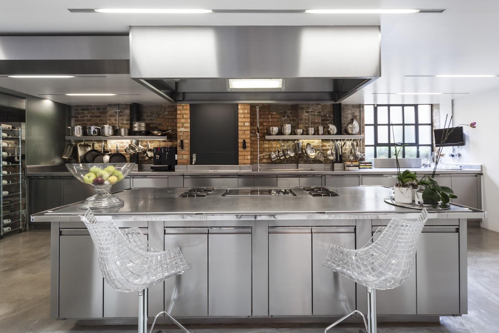 Fabrica convertida en un loft for Cocinas de lujo