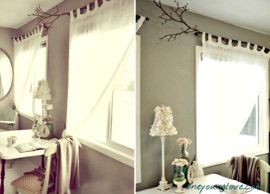 Una rama para colgar la cortina - Barras para colgar cortinas ...