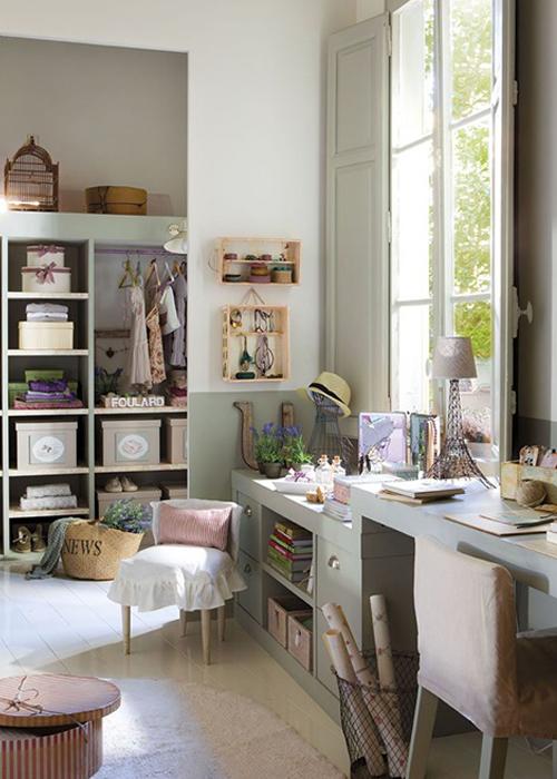 Bonito dormitorio femenino for Zona de estudio