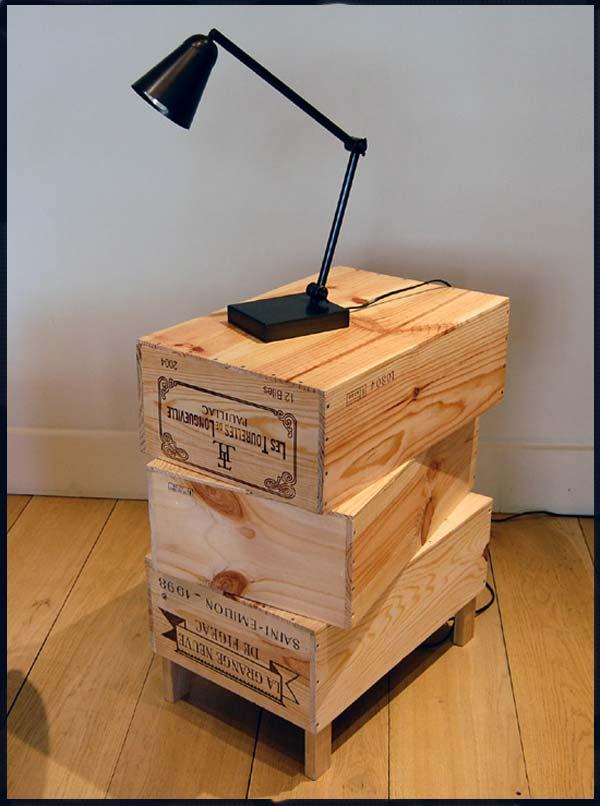 Decorreciclaje cajas de vino - Mesitas de noche recicladas ...