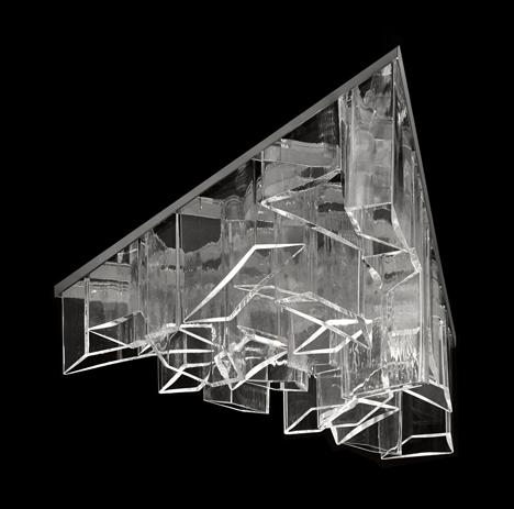 l mpara de cristal de daniel libeskind. Black Bedroom Furniture Sets. Home Design Ideas