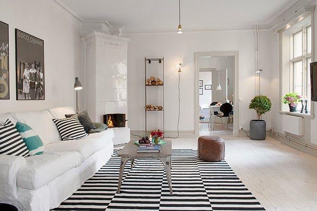 Alfombras a rayas blanco y negro - Alfombras estilo nordico ...