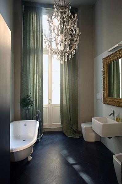 Cortina Baño Elegante:Bathroom Decorating Ideas High Ceilings