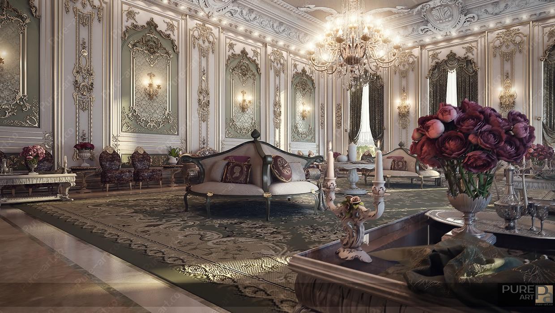 interiores lujosos estilo louis. Black Bedroom Furniture Sets. Home Design Ideas