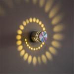 Aplique con puntos de luz en espiral